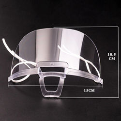 1PC Against Droplets Mask Anti Fog Catering Food Hotel Plastic Kitchen Restaurant Mask Health Care Tools Transparent