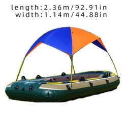 Fishing Awning Two-Person Portable Waterproof Sun Shade Shelter Canopy Boat Tent Folding Dinghy Cover Inflatable Kayak Beach