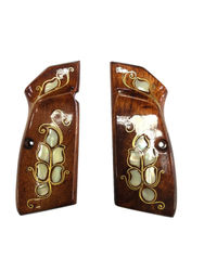Browning 14 Compatible Pearl Inlaid Embroidered Wooden Grip