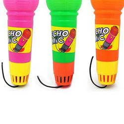 3pcs Echo Microphone Toy Pretend Play Multicolor Novelty Toy for Kids Children (Mixed Color)