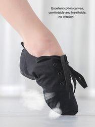 2021 Soft Cloth Dance Jazz Shoes Ballet Shoes for Men Women Children White Black Tan Red Sport Sneakers Gymnastics Fitness Shoes
