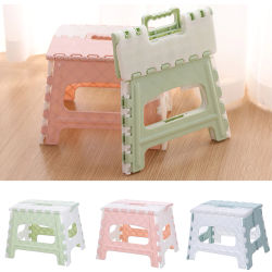PP Lightweight Multi Purpose Bedroom Home Train Living Room Easy Clean Outdoor Kids Adults Bathroom Foldable Stool Non Slip