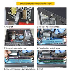 DDR2 RAM Memory 1GB 2GB 800MHz Desktop DIMM BGA Memory 1.8V 240Pin PC2-6400 for Intel/AMD