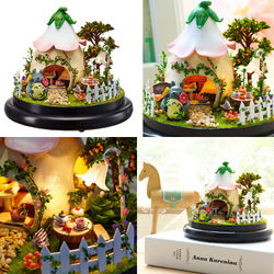 Ball Doll House Furniture Miniature Wooden Miniaturas Bell Slass Dollhouse Christmas Gift Toys Children Birthday Gifts