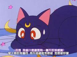 Sailor Moon Cat Plush Toy Anime Lulu Pet Figure Tuffed Doll Mini Soft Pillow 25cm For Gift