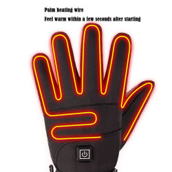 Motorcycle Gloves Waterproof Heated Guantes Moto Touch Screen Battery Powered Motorbike Racing Riding Gloves Winter Gloves