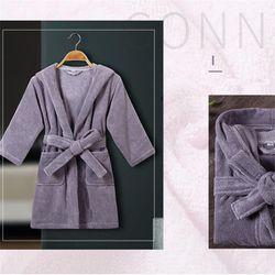 Premium solid color cotton kids bathrobes with hoodie terry cotton hotel children bath robes toddler swim hooded bathrobe