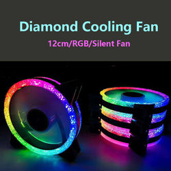 120mm Diamond Cooling Fan 3/4PIN 6PIN 12CM RGB Synchronous Case Fan with Remote Controller Computer Fans desktop mute computer