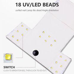 LULAA Nail Dryer LED UV Lamp 54W MINI Lamp 3 Colors For Manicure Quick Drying Gel Nail Polish Art Tool