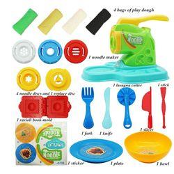 20PCS Play Dough Kitchen Creations Noodle Machine Children Toy Playset Clay Molding Fun DIY Noodle Maker Set for Kids