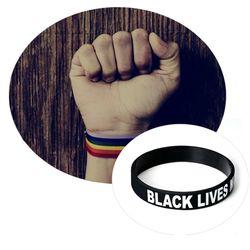 Black Lives Matter Soft Silicone Motivational Bracelet Inspirational With Trendy Sports Bracelet Accessories