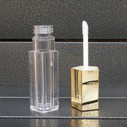 5/10/20/30/50pcs Empty Gold Plastic Lipgloss Bottle,Creative Portable Lip Gloss Tube, Lipstick Tube