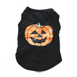 Halloween Dog TShirt Clothes Cotton Pet Clothing for Small Medium Dogs Vest Shirt Pumpkin Spider Web Puppy Dog Costume Chihuahua