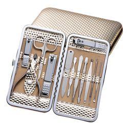 Nail Art Tool Sets Nail Cuticle Pusher Clipper Eyebrow Clip Eyebrow Scissor Earpick Acne Needle Pedicure Knife Nail Makeup Tools