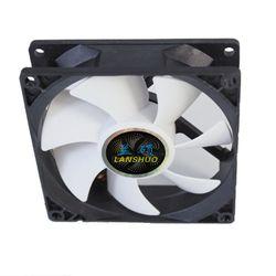 LANSHUO 90mm 3 Pin RGB Fan 90*90*25 Computer Case Fan Silent 9CM CPU Cooling Fan Quiet PC Cooler Fan RGB Fan DC 12V CPU Fan