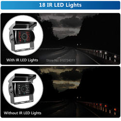 12V 24V Car Infrared 120 Degree View Angle Parking Camera