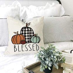 Covers Set Of 4 for Fall Decor Farmhouse Thanksgiving Pumpkin Outdoor Fall Pillows Decorative Throw Pillowscases