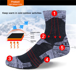2Pairs/Lot Unisex Winter Thicken Thermal Climbing Hiking Fishing Skiing Socks Men Women Running Cycling Socks Sports Thermosocks