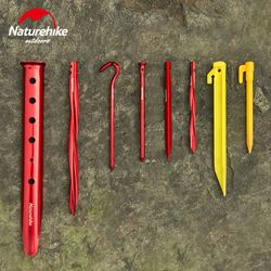 Naturehike Camping Tent Nail Pegs Aluminum Alloy ABS Outdoor Hiking Screw Tent Stake For Beach Sand Snow Grassland Accessories