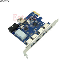 5 Ports PCI-E PCI Express Card to USB 3.0+19 Pin Connector 4 Pin Adapter For Win