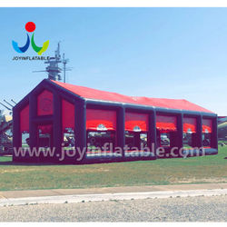 Outdoor red display cube tent inflatable exhibition tent with four doors