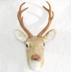 free shipping wall mounted deer head wall decoration handmade fake deer head