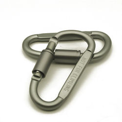 1Pc Outdoor Screw Lock Buckle D-Shaped Carabiner Hook Keyring Clip Camping Kits Sports Rope Buckle ISP Not for clambing