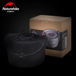 Naturehike 4L high-capacity Portable Ultra light Outdoor Camping Hiking Picnic Pot cauldron field cauldron Outdoor kitchen