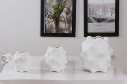 Modern Creative Ceramic Sea Cucumber Shape Flower Vase Set Decorative Household Earthenware Plant Pot Craft Accessories Ornament