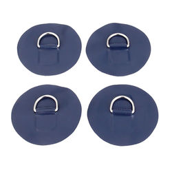 4 Pcs Marine Grade 316 Stainless Steel & PVC Kayak D-ring Pad Patch For Raft Canoe Surfboard Kayak Inflatable Boats Accessories