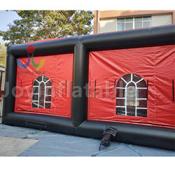 18X6M Outdoor black and red cube inflatable event tent for exhibition on sale