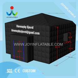 6X6M Inflatable Portable Party Tent for Outdoor Event Sport in balck color With LED Light