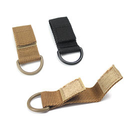1Pc Tactical Multifunction Nylon Molle Webbing Belt D-Ring Carabiner Magic tape Hanging Keychain Backpack Hook molle buckle