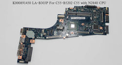 Free Shipping New for Toshiba Satellite C55-B5202 C55 ZBWAA LA-B303P K000891450 Motherboard with N2840 CPU