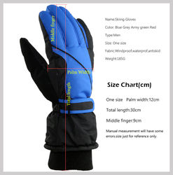 Professional Men Women Ski Gloves Snowmobile Motorcycle Riding Winter Warm Skiing Gloves Windproof Waterproof Cycling Gloves