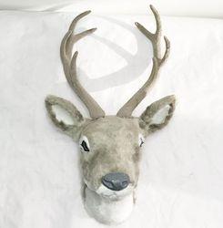 free shipping plush deer head craft deer head wall mount