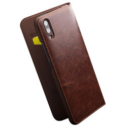QIALINO Stylish Genuine Leather Phone Cover for Vivo X23 Luxury Ultra Slim Flip Case with Card slot for Vivo X23 6.41 inches