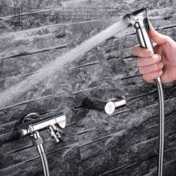 Full copper bidet suite toilet angle valve gun nozzle bidet bidet faucet can be accessed washing machine