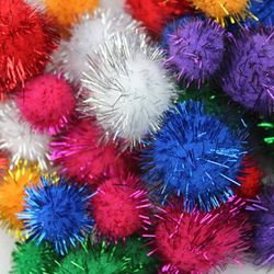 30pcs/lot Assorted Color Sparkle Balls My Cat's All Time Favorite Toy