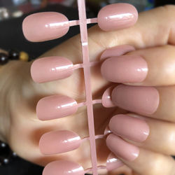 24pcs/kit New fashion beautiful white blue balck Fake Nails Stiletto Press On Nails DIY Manicure Tips Full Wrap Many colors