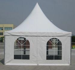 4 x 4m Pagoda Tent with Clear Church Windows
