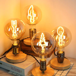 TIANFAN Edison Vintage Bulbs G125 Curved Christmas Tree Led Filament Bulb 4W 220/240V E27 Decorative Light Bulb Table Lamp Bulb