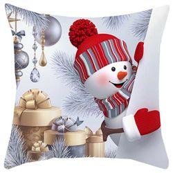 Pillow Case Santa Claus Pattern Xmas Home Sofa Decors Hot Sale 45*45cm Decoracion Hogar Pillow Cases Home Decor Christmas