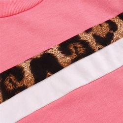 1-4Y Girls Clothing Sets 2021 Autumn Winter Toddler Girls Clothes Outfit Kids Leopard Print Tracksuit For Boys Children Clothing