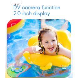 Mini Children 12MP Digital AI DV Camera, Portable Color Auto Focus Camera, Anti-Fouling Camera with Cord