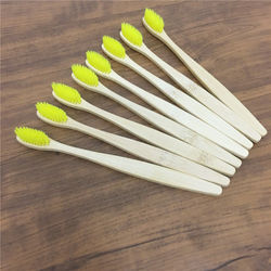 Eco-friendly Bamboo Charcoal rainbow Toothbrush For Oral Health Low Carbon Soft Bristle Wood Handle Adult travel Toothbrushes