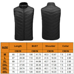 9 Heated Zones Heating Vest Washable Usb Charging Heating Warm Vest Control Temperature Outdoor Hiking Camping Heating Jacket