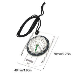 Wilderness Survival Outdoor Equipment Professional Multifunction Compass North Arrow Map Scale Scale Compass