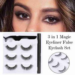 3 Pairs 3D Mink False Eyelashes For Natural False Quick-drying Makeup Extension Eyelashes Eyelash Set Sets Eyel Q8H2