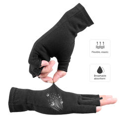 Arthritis Pressure Health Gloves Ultra-Stretch Breathable Rehabilitation Gloves Anti-Edema Half-Finger Gloves Wrist Support